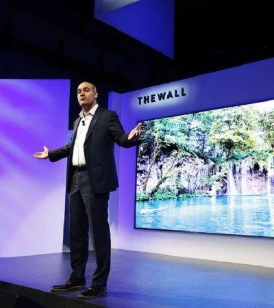 The Wall: a surreal televisão de 146 polegadas da Samsung não poderia ter outro nome