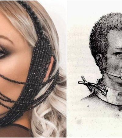No Baile da Vogue, blogueira usa look racista com réplica de instrumento de tortura contra escravos