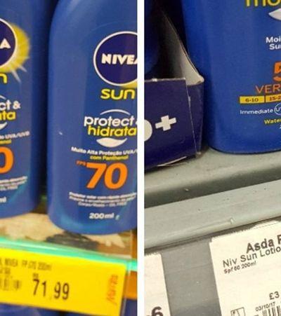 Ela comparou preços dos mesmos produtos no Reino Unido e no Brasil e o resultado é chocante