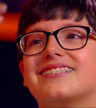 Vítima de bullying, participante do 'The Voice Kids' emociona público com desabafo