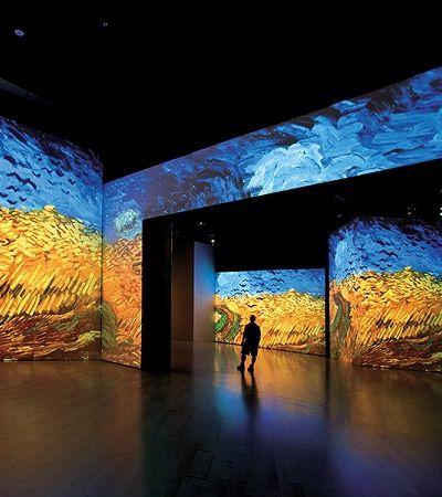 Entramos nas obras de Van Gogh durante esta exposição multissensorial em Sevilha