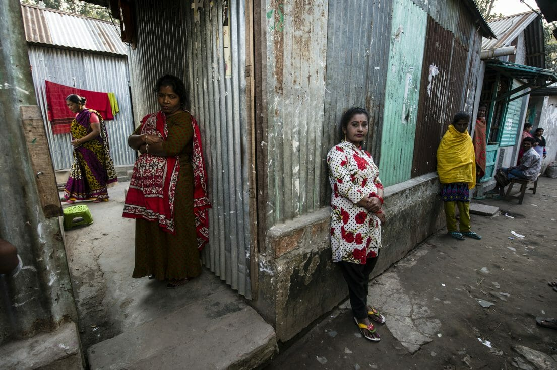 Women waiting for customers.