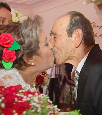Ex-namorados, casal se reencontra 48 anos depois e se casa em lar de idosos