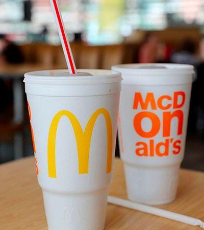 McDonald's vai abandonar seus copos plásticos até 2020 em todo o planeta