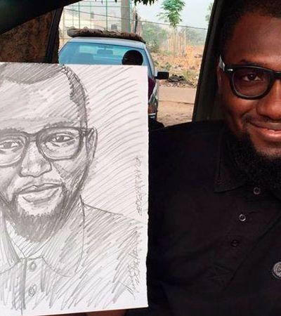 Este artista de rua está chocando a internet com retratos perfeitos de apenas 5 minutos