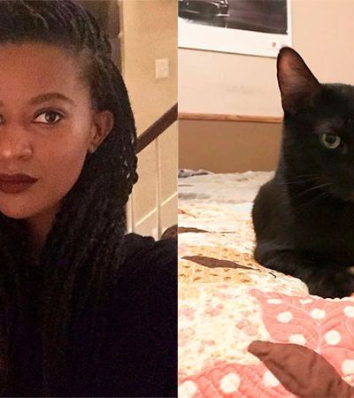 Ela jura que seu gato preto voltou para casa após ficar desaparecido por 5 anos