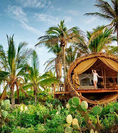 Este hotel com quartos de bambu abastecidos a energia solar parece saído de um sonho