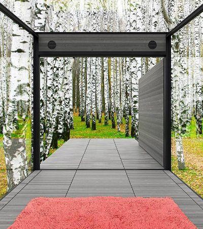 Arquitetos criam casa minimalista e autossuficiente que é quase invisível