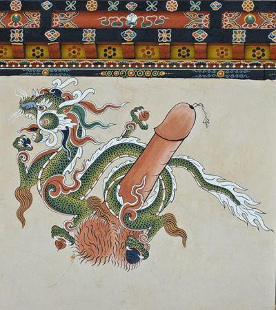 """Conheça o """"santuário do pênis"""", um templo budista todo dedicado ao falo"""