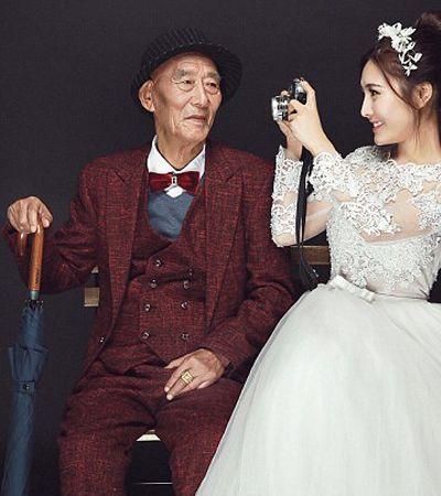 Ela fez um ensaio de casamento com o avô de 87 anos com medo que ele não vivesse para vê-la casar