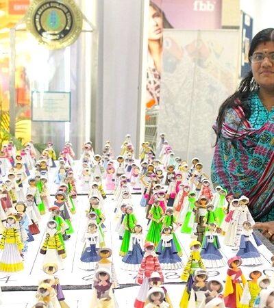Ela já fez 1.350 lindas bonecas usando lixo doméstico e entrou para o Guinness