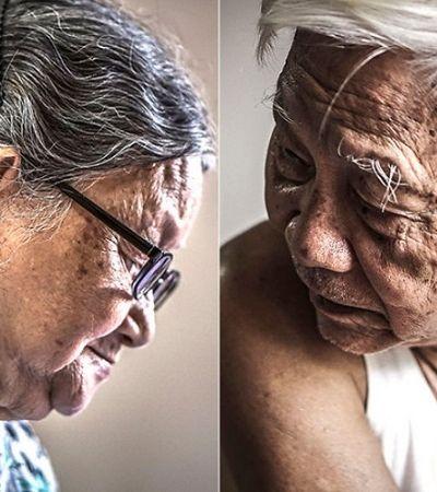 Ela clicou o dia a dia de seus avós para registrar sua atitude positiva perante a vida
