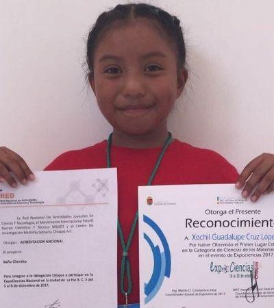 Garota de apenas 8 anos ganha prêmio com aquecedor solar feito de material reciclado