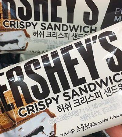Hershey's lança barra de chocolate que é sanduíche de sorvete com waffle