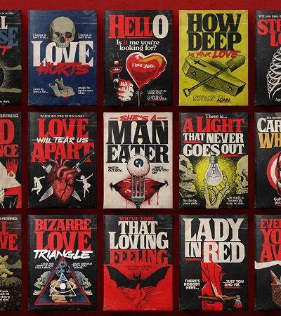 Ilustrador brasileiro transforma hits de amor em capas de livros de Stephen King