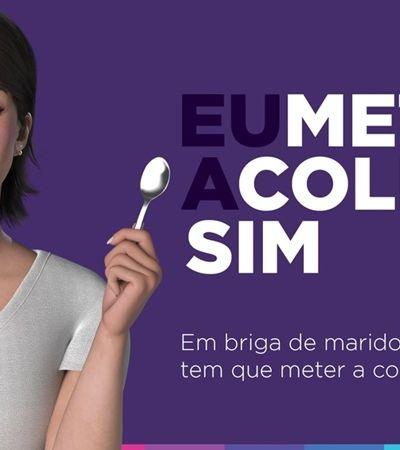 Com colher e tudo: Magazine Luiza vai pra cima da violência contra a mulher