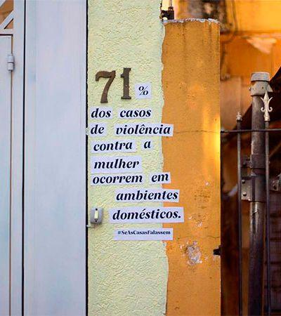 Ação transforma número de casas em murais da violência doméstica em SP