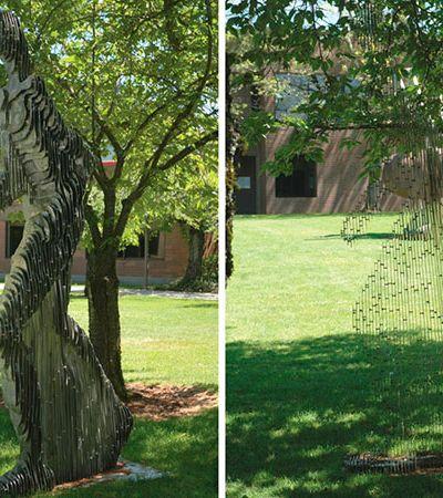 Artista ou cientista? Artista cria esculturas que desaparecem diante dos nossos olhos