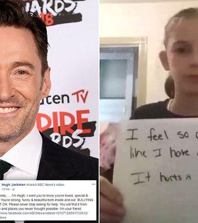 Humilhada na escola, menina de 10 anos recebe apoio de Hugh Jackman: 'Sou seu amigo'