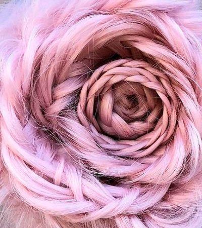 Trança em forma de rosa se torna nova tendência de penteado e o Instagram está enlouquecido