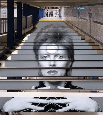 David Bowie é tema de instalação estilosa no metrô de NY