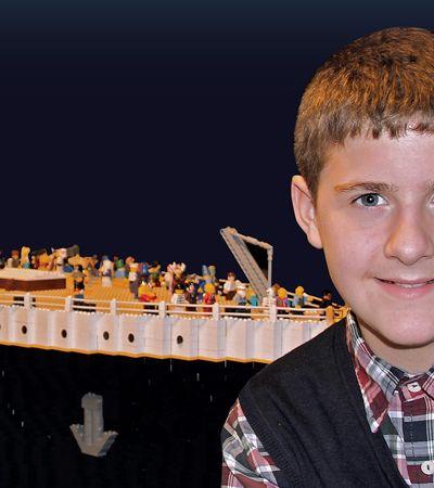 Menino com autismo recria Titanic usando 56 mil peças de Lego
