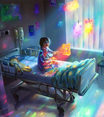 Arte ajuda jovem a lidar com doença vinda do uso excessivo de computador