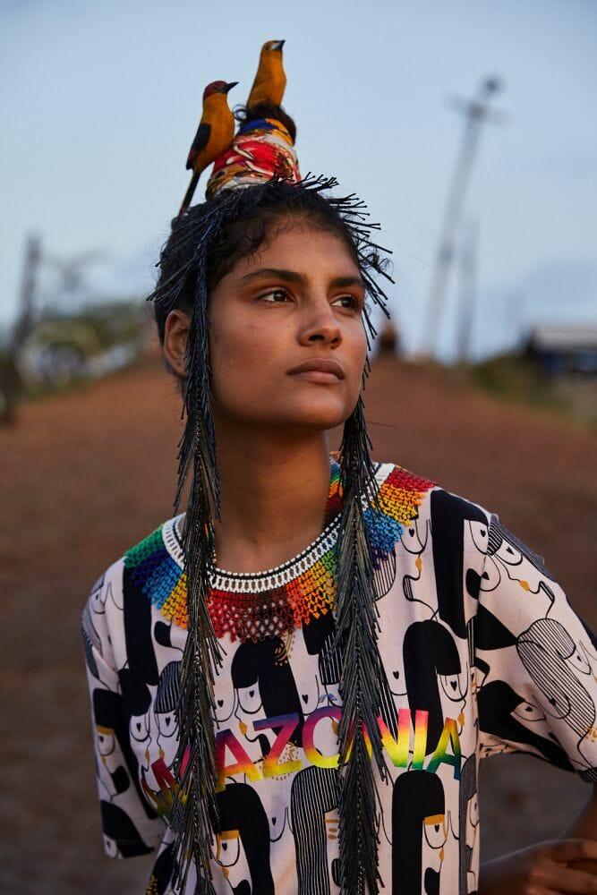 Peças feitas em parceria com as mulheres da tribo Yawanawa
