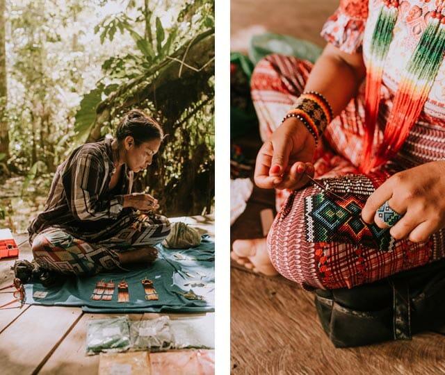 Trabalho artesanal das Yawanawa