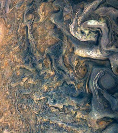 O universo é uma obra de arte: Parece pintura do Van Gogh, mas é a superfície de Júpiter