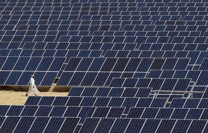 Painéis de energia solar em Diu