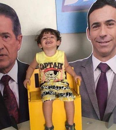 Garotinho de 2 anos ganha festa temática de 'SP TV'