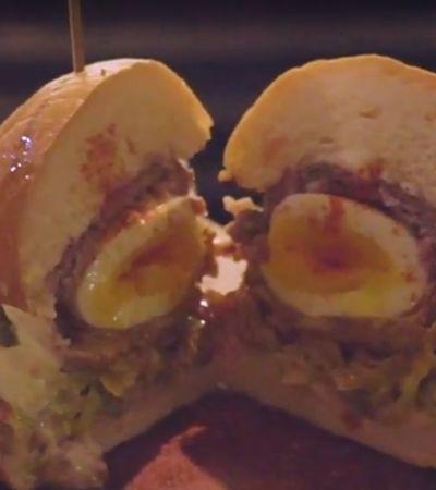 Restaurante cria hambúrguer de bolovo em promoção por tempo limitado