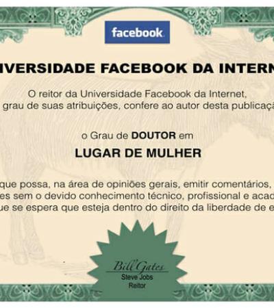 Página cria diplomas para os 'doutores' em discussões de Facebook