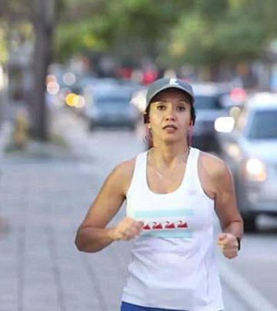 Ela correu uma maratona poucos anos após câncer que podia impedi-la de andar