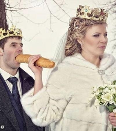 Estas fotos de casamentos russos são mais um indício de que a Copa esse ano promete