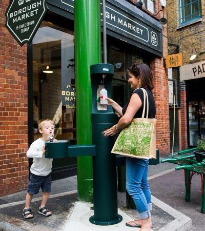Para combater uso de garrafas plásticas, Londres vai espalhar bebedouros pela cidade