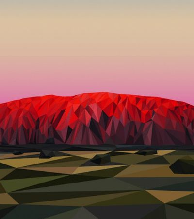 Artista transforma montanhas canadenses em paisagens sobrenaturais e geométricas