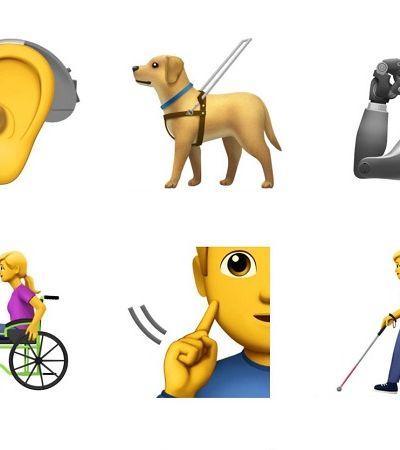 Finalmente os emojis de pessoas com deficiência estão a caminho