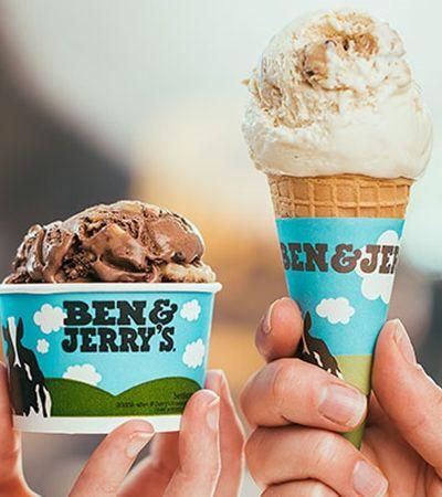 Ben & Jerry's dá sorvete de graça em 18 lojas espalhadas pelo Brasil nesta terça