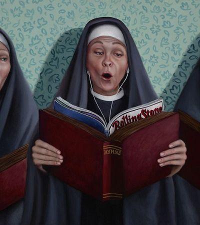 Artista pinta freiras 'V1D4 L0K4' em situações divertidas e polêmicas
