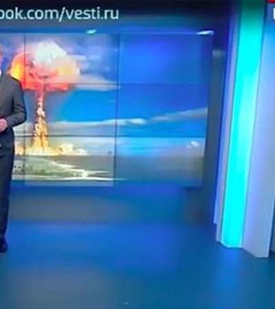 Âncora de tevê estatal russa sugere melhores mantimentos para guerra nuclear
