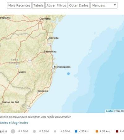 Maior terremoto do Brasil este ano é registrado hoje em Florianópolis