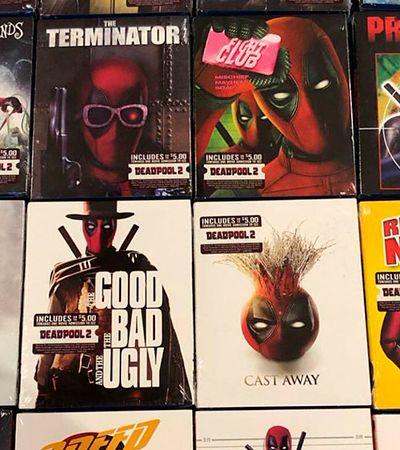 Deadpool invade as capas de 16 DVDs diferentes vendidos pelo Walmart