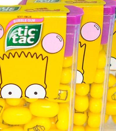 Tic Tac lança edição limitada de 'Os Simpsons', com balas estilizadas e tudo mais