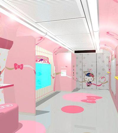 Tecnologia e fofura: viaje pelo Japão no trem-bala da Hello Kitty