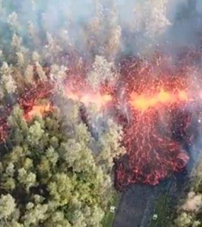 Imagens impressionantes registram erupção do vulcão Kilauea no Havaí