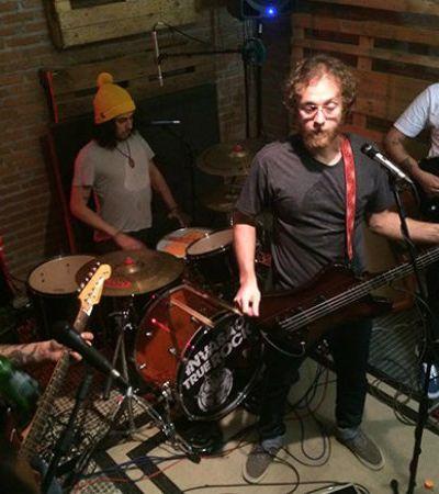 Pocket Show de bandas independentes é projetado em tempo real na rua Maria Antônia em SP