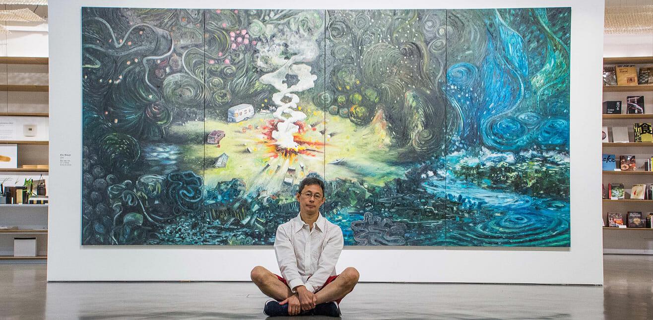 Os visitantes serão convidados a entrar nesta obra e, assim, fazer parte deste imaginário de Oiwa, em uma integração única
