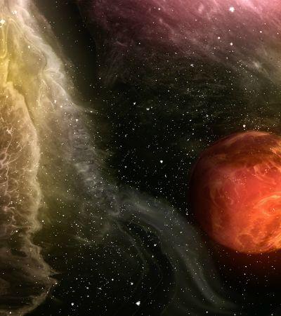 Galáxia inspira ilustradora a criar novos e possíveis planetas